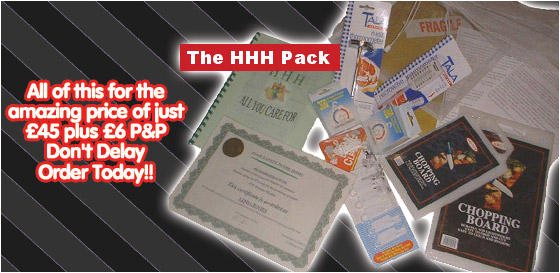 The HHH Pack - All of this for the amazing price of just £45 plus £6 P&P | Don't Delay Order Today!!